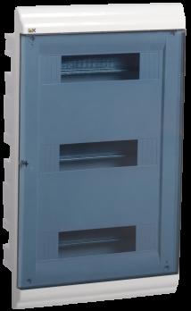 IEK Корпус PRIME встраиваемый ЩРВ-П 36 модулей, пластик IP41 дверь прозрачная