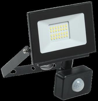 IEK Прожектор светодиодный СДО 06-20Д 6500К черный с датчиком движения IP54