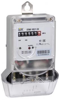 IEK Счетчик эл. энергии однофазный STAR 102/1 С3-5 (60) М, на DIN рейку