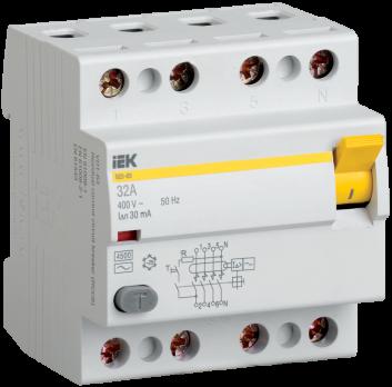 IEK Выключатель дифференциальный ВД1-63 (УЗО) 40А 4п 30мА