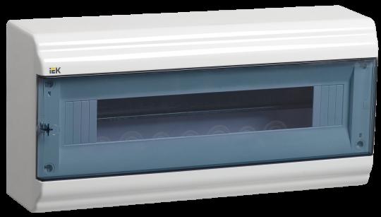 IEK Корпус PRIME навесной ЩРН-П 18 модулей, пластик IP41 дверь прозрачная