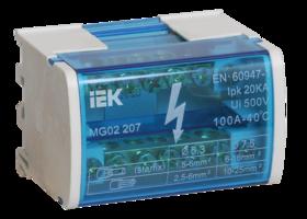 IEK Шины на DIN-рейку в корпусе (кросс-модуль) L+PEN 2x7