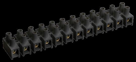 IEK Зажим винтовой ЗВИ-3 н/г 1,0-2,5 мм2 12 пар, черный