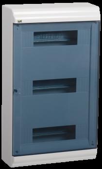 IEK Корпус PRIME навесной ЩРН-П 36 модулей, пластик IP41 дверь прозрачная