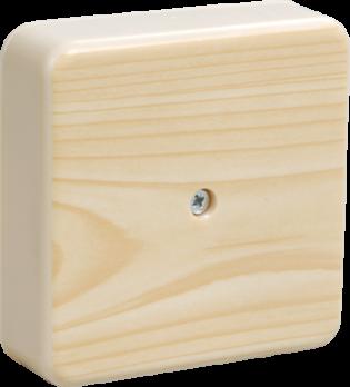 IEK Коробка распаячная КМ41216-04 для о/п 75 х 75 х 28 IP20, сосна, с контактной группой