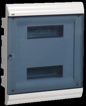 IEK Корпус PRIME встраиваемый ЩРВ-П 24 модуля, пластик IP41 дверь прозрачная
