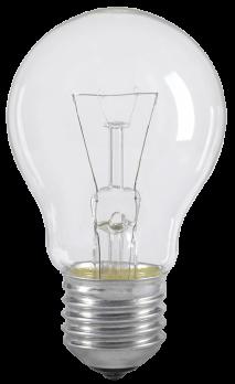 IEK Лампа накаливания шар 75Вт A55 E27 прозрачная