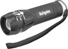Navigator Фонарь 94967 алюмин, фокус 1 LEDх3Вт, батар 3хААА