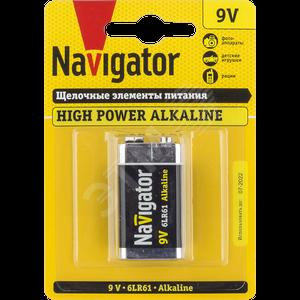 Navigator Элемент питания NBT-NE-6LR61-BP1, 9В, крона, 94756