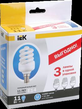IEK Лампа люм. спираль КЭЛ-FS Е27 30Вт 4000К