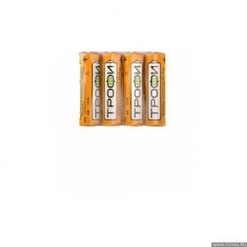 Элемент питания  Трофи R 6-4S AA 4шт в уп. /4/60/ C0033715