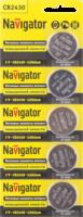 Navigator Элемент питания NBT-CR2430-BP5