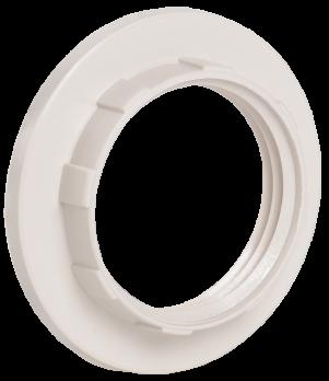 IEK Кольцо к патрону белое Е14 пластик