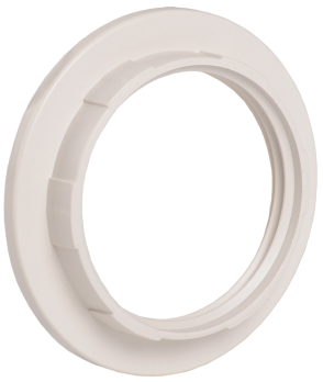 IEK Кольцо к патрону белое Е27 пластик
