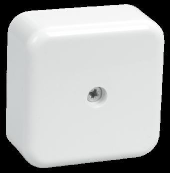 IEK Коробка распаячная КМ41206-01 для о/п 50 х 50 х 20 IP20, белая (4 клеммы 3мм2)