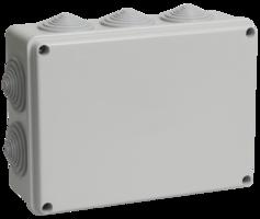 IEK Коробка распаячная КМ41244 для о/п 190 х 140 х 70 IP55, RAL7035, 10 гермовводов