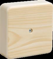 IEK Коробка распаячная КМ41219-04 для о/п 100 х 100 х 29 сосна (6 клемм 6мм2)