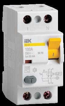 IEK Выключатель дифференциального тока ВД1-63 (УЗО) 40 А 2п AC 30 мА