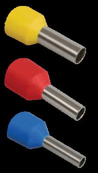 IEK Наконечник-гильза Е1508 1,50 мм2 с изолированным фланцем, красный х 100 шт