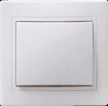IEK Выключатель без подсветки КВАРТА 1кл 10А, белый 234490