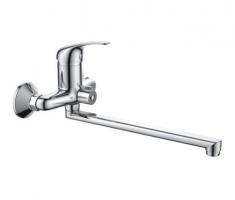 Haiba HB 2203-К Смеситель для ванны длинный излив переключатель в корпусе хром
