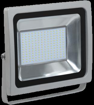 IEK Прожектор светодиодный СДО 07-100 серый IP65