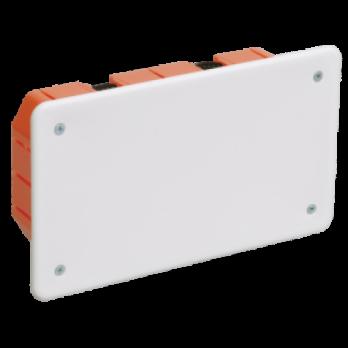 IEK Коробка распаячная КМ41026 для полых стен 172 х 96 x 45 с саморезами, пласт. лапки, с крышкой