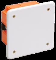 IEK Коробка распаячная КМ41022 для полых стен 92 х 92 x 45 с саморезами, пластик. лапки, с крышкой