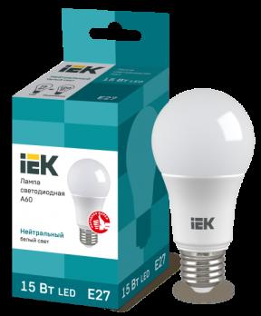 IEK Лампа светодиодная ECO A60 шар 20Вт 230В 4000К E27