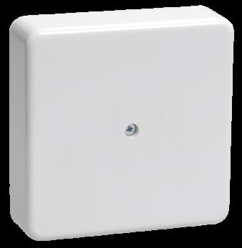 IEK Коробка распаячная КМ41222 для о/п 100 х 100 х 44 с контактной группой, белая