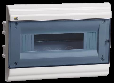 IEK Корпус PRIME встраиваемый ЩРВ-П 12 модулей, пластик IP41 дверь прозрачная