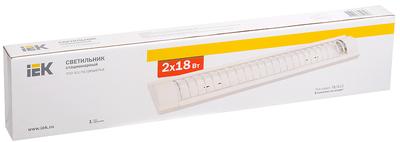 IEK Светильник ЛПО 3017С светодиодный (переделан) 2 x 10 Вт 230В G13 м/решетка