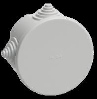 IEK Коробка распаячная КМ41237 для о/п d75 х 40 IP44, RAL7035, 4 гермоввода