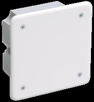 IEK Коробка распаячная КМ41001 для твердых стен 92 x 92 x 45 с саморезами, с крышкой