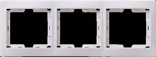 IEK Рамка КВАРТА 3-местная горизонтальная, белая