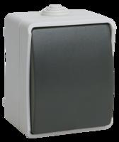 IEK Выключатель без подсветки ФОРС 1-кл. для открытой установки, IP54