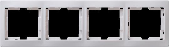 IEK Рамка КВАРТА 4-местнная горизонтальная, белая