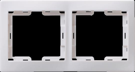 IEK Рамка КВАРТА 2-местная горизонтальная, белая 234978