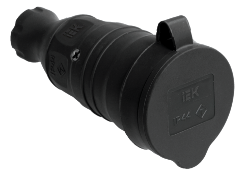 IEK Розетка ОМЕГА с защитной крышкой переносная IP44