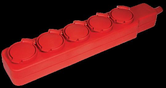 IEK Удлинитель У05В 5 мест с защитными крышками 2Р+PE / 5м 3х1,00 мм2 16А/250В IP44
