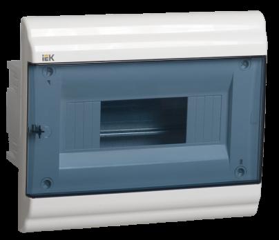 IEK Корпус PRIME встраиваемый ЩРВ-П 09 модулей, пластик IP41 дверь прозрачная