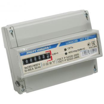 Энергомера Счетчик эл. энергии трехфазный ЦЭ6083В Р31 10-100А одонотарифный (DIN)
