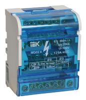 IEK Шины на DIN-рейку в корпусе (кросс-модуль) 3L+PEN 4x7