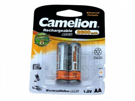 Camelion АА-2600mAh Ni-Mh BL-2 (аккумулятор, 1,2В)