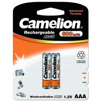 Camelion ААА-600mAh Ni-Mh BL-2 (аккумулятор, 1,2В)