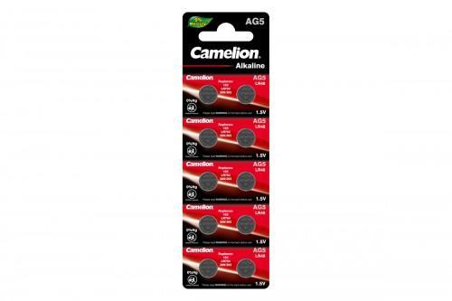 Camelion AG5 / 393A / LR754 / 193 (батарейка щелочная, 1,5В) таблетка 12813