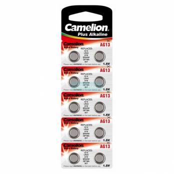 Camelion AG13 / 357A / LR44 / А76 (батарейка щелочная, 1,5В) таблетка 12821