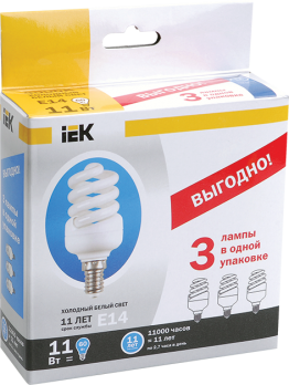 IEK Лампа люм. спираль КЭЛ-FS Е27 15Вт 2700К Т2
