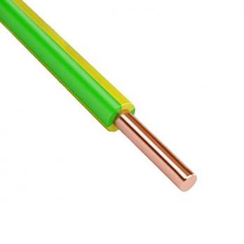Провод установ. ПУВ желто-зеленый 1 x 6,00, ГОСТ, 1 метр