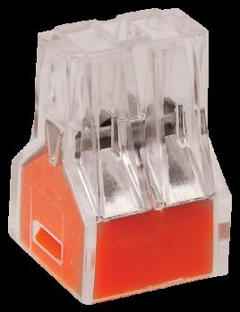 IEK Клемма СМК 773-324 4х0,75-2,5 оранжевая за 1 шт